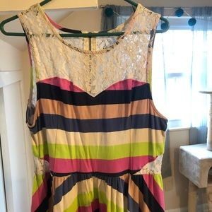 Stripes and Lace Summer Dress